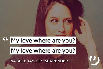 Terjemah dan arti lirik lagu dari Natalie Taylor - Surrender